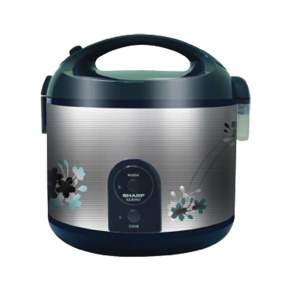 Sharp - Rice Cooker 1.8 Liter Stainless KSR19ST
