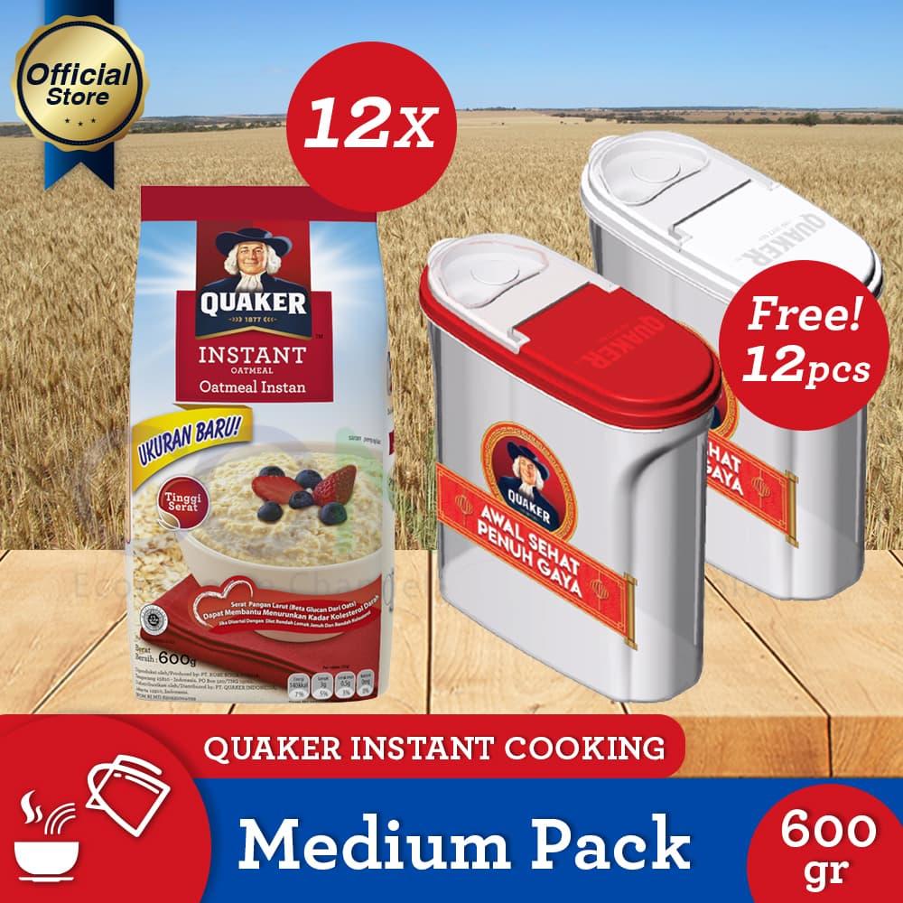 Jual Free 12pcs Food Container Quaker Instant Oatmeal Medium 600g Kari Ayam Box 4s 6 Pcs Gwp P 12