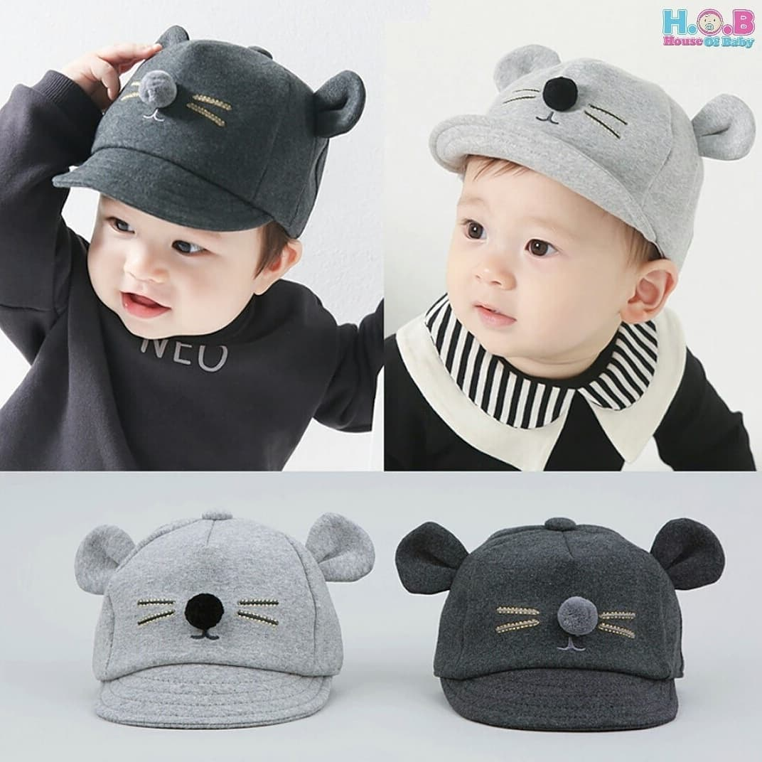 Daftar Harga Topi Anak Terbaru 2018 Kemeja Tangan Panjang Stripe Hitam Putih Rsby 2829 3d Mouse Hat