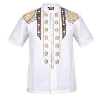 Baju Koko / Baju Koko Pria / Busana Muslim Pria / Baju Muslim Type 28 - Putih
