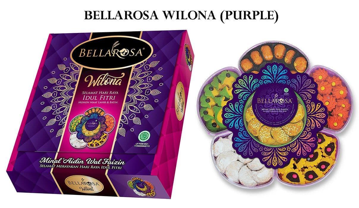 Terlaris Paket Lebaran Bellarosa Snack Parcel Kue Hadiah Daftar Dante Ungu Wilona