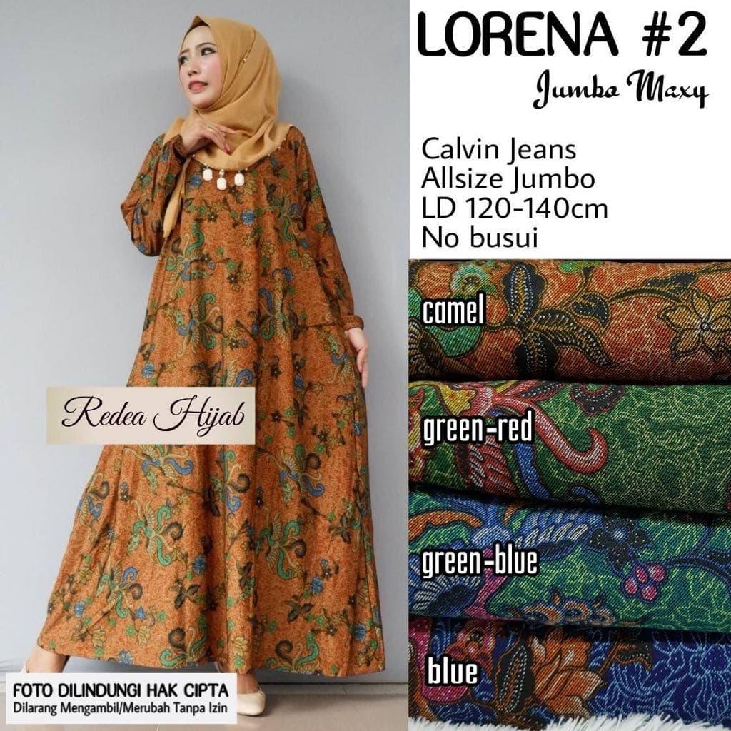 Jual Jakarta Xxl Lorena 2 Gamis Jumbo Gamis Calvin Jeans Elegant