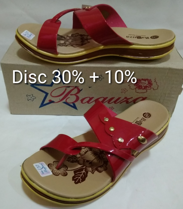 Jual Sandal Jepit Kulit Wanita Model Sandal Fladeo Merk Baguza ... 9b24f0d6af