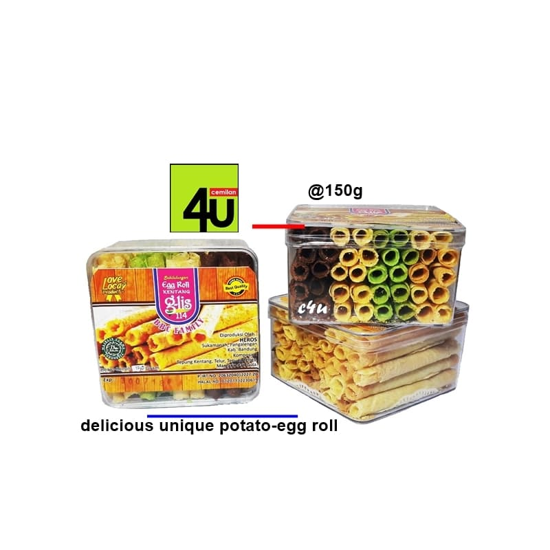 G-Lis 114 - Potato Egg Roll - 150g - Blanja.com