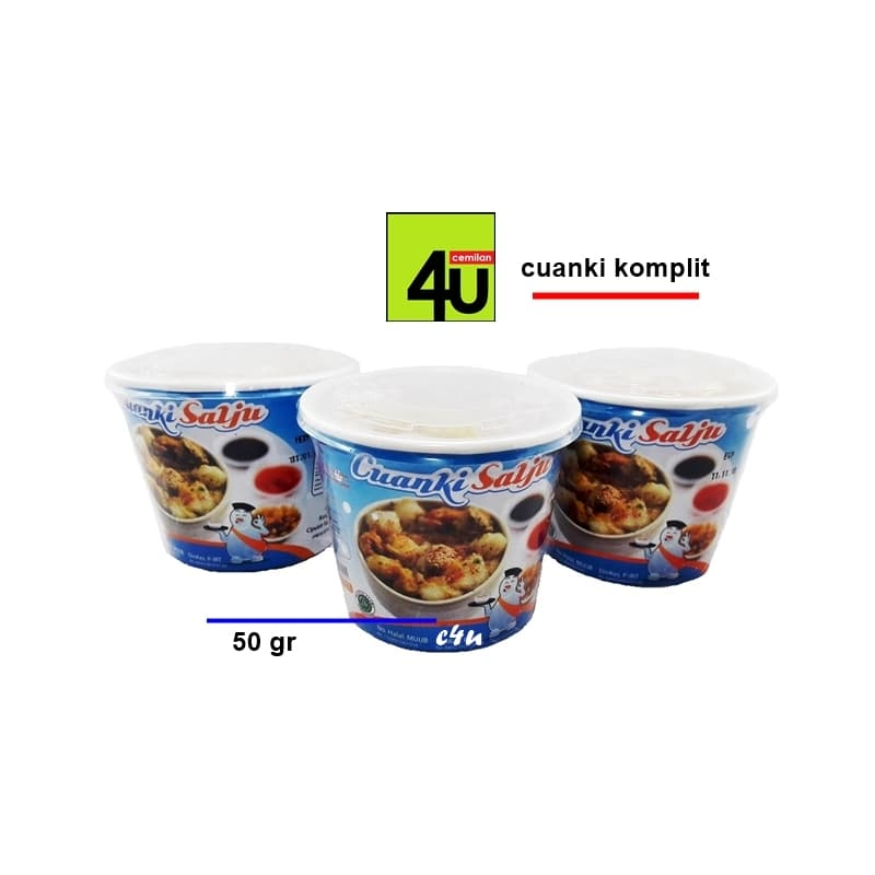 Cuanki Salju - Cuanki Instan Komplit - 50g - Blanja.com