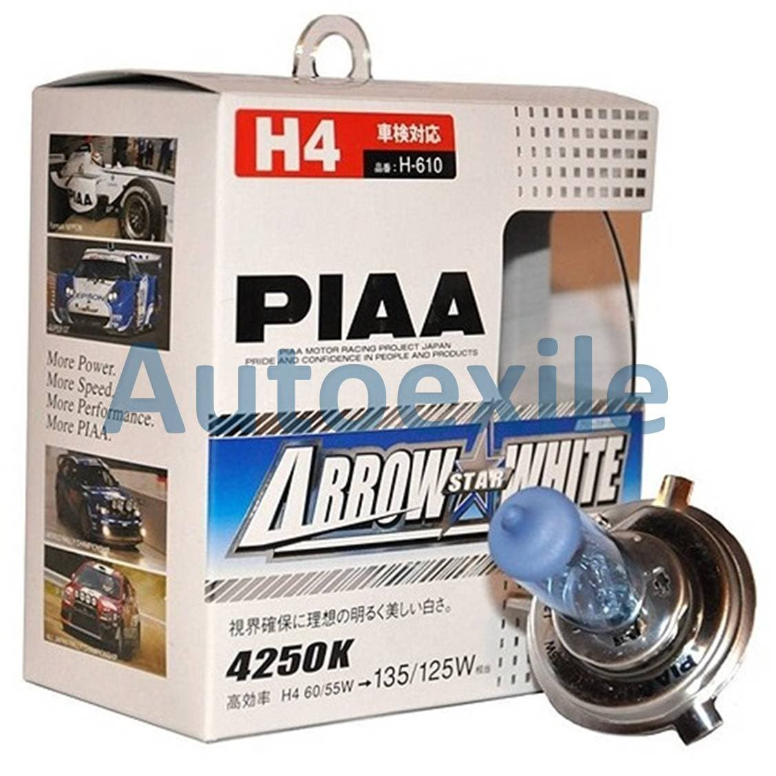 Jual Lampu Mobil Piaa Arrow Star White H4 60 55w Output 135 125w Philips X Treme Vision Plus 12v 3700k P43t 38 Depan 4250k Putih Kekuningan Made In Japan
