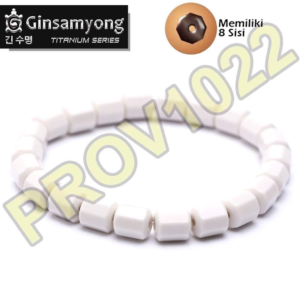 Jual Gelang Ginsamyong Putih Kesehatan Original South Korea Kalung Prov1022 Tokopedia