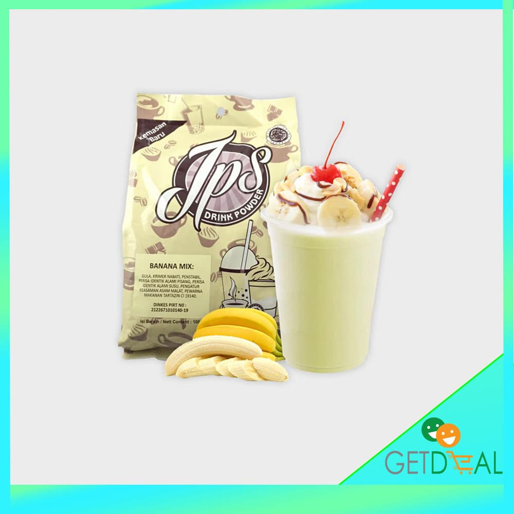 Bubuk Minuman Rasa Pisang Banana Mix Gula - JPS Drink Powder 1 kg. Source ·