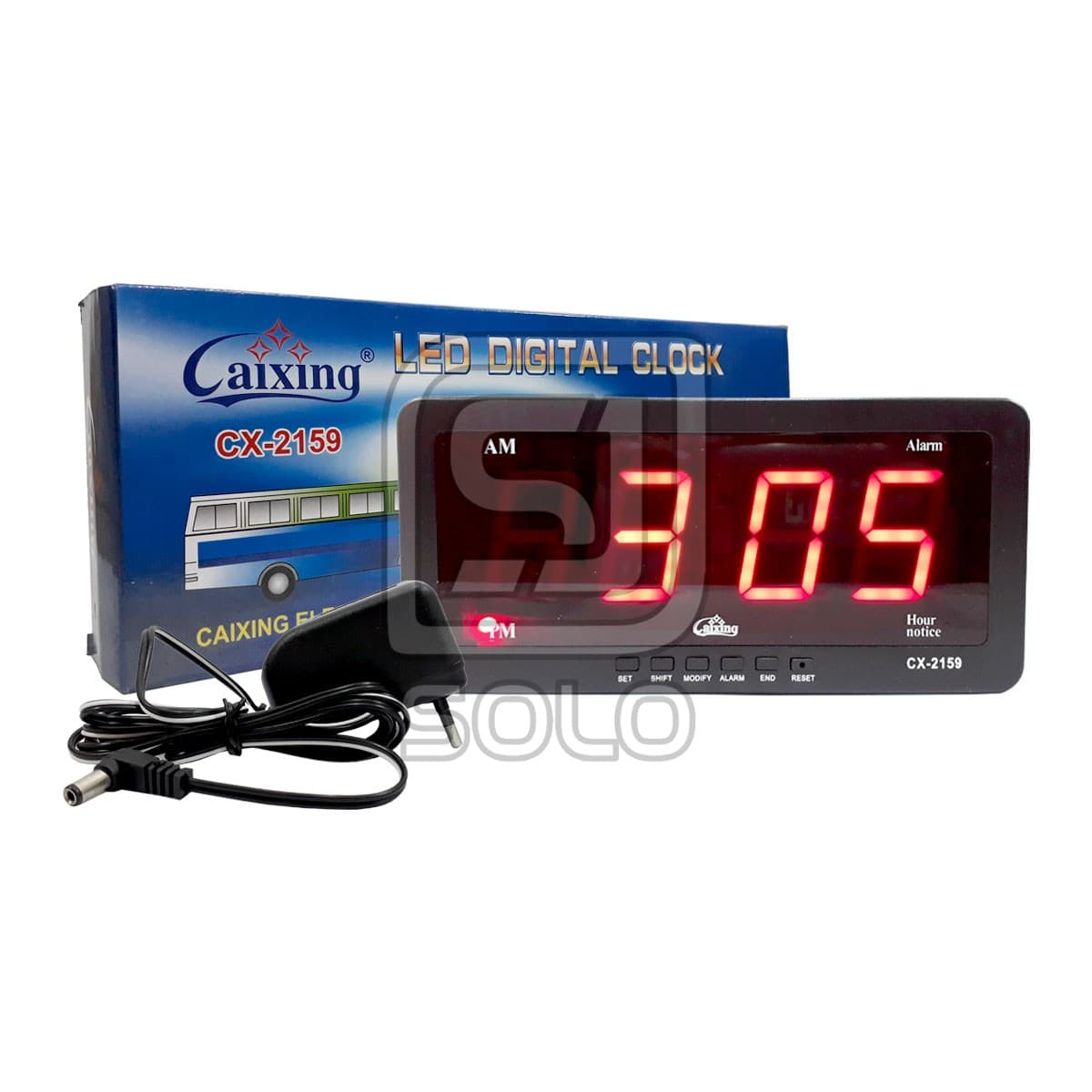 Jam Dinding Led Digital Clock 2159 Cx - 2159 Red Led Merah Jam Portable