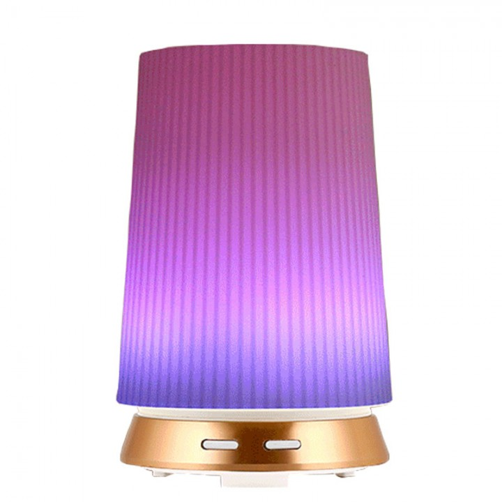 H44 Humidifier Essential Oil Diffuser Purifier Led Light 100ml Gold