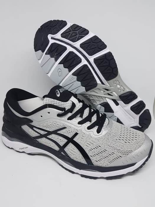 Jual Sepatu Running.gym.volly Asics Gel Kayano 24 Gray Black Murah ... f6912c2f42