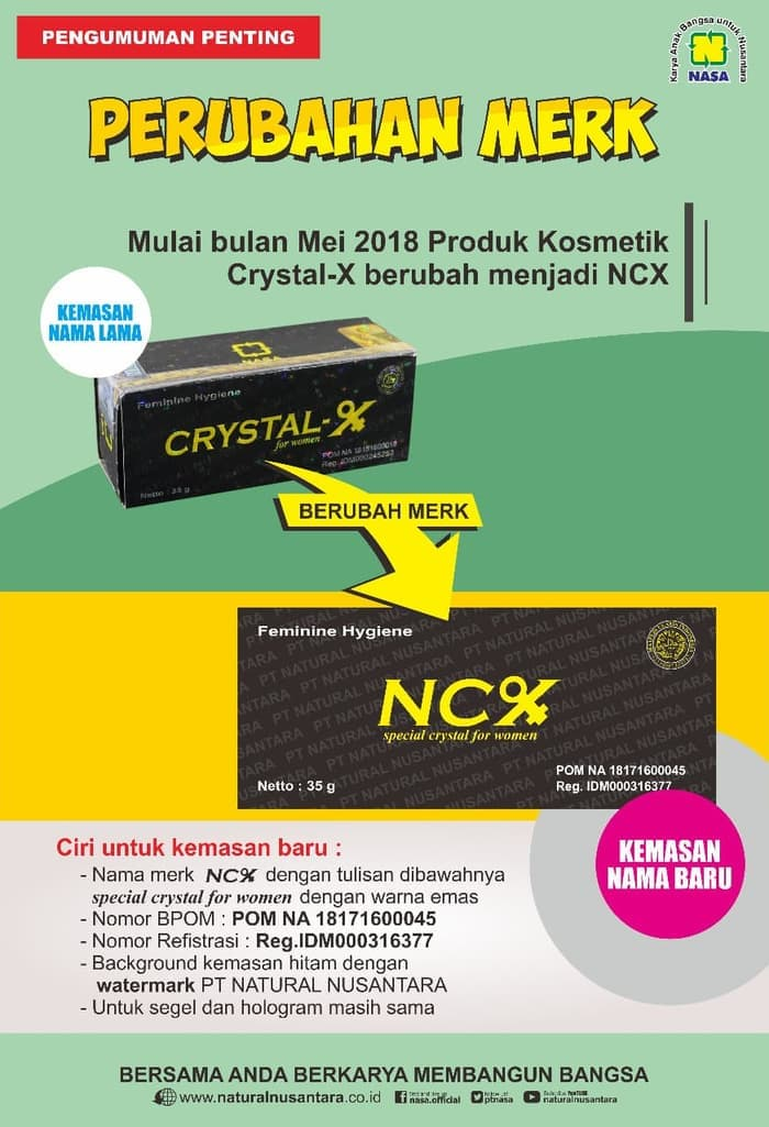 Hasil gambar untuk perubahan merk crystal x menjadi ncx