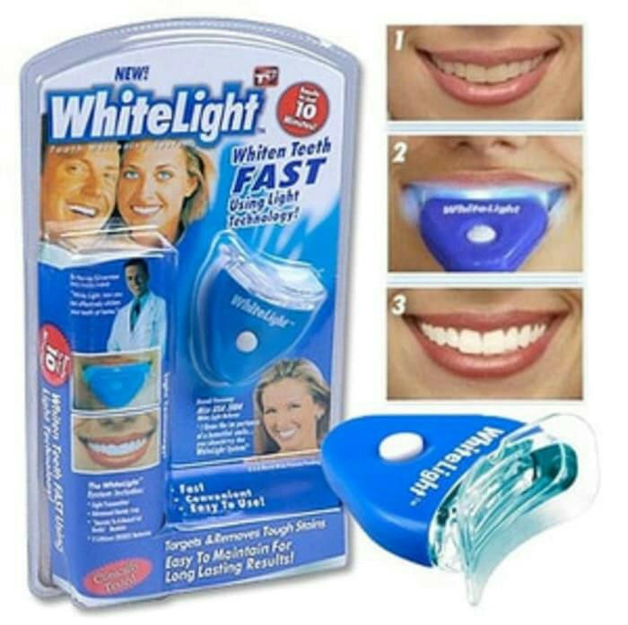 Jual Alat Pemutih Gigi Memutihkan Gigi Kuning White Light Ori Asli