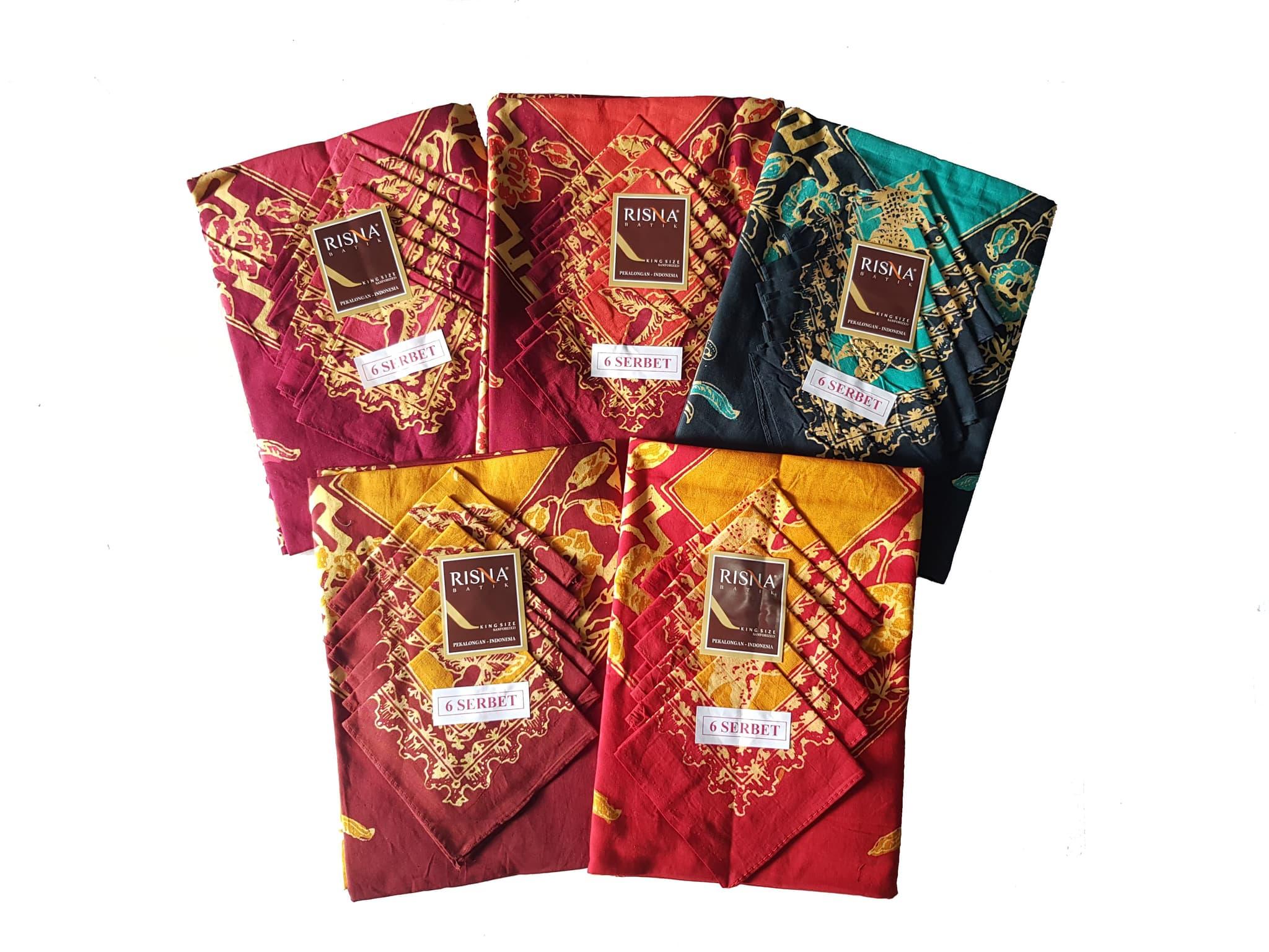 Jual 6serbet Taplak Meja Makan Cap Risna Batik Pekalongan 6 Sapu Tangan Pria Isi Tokopedia