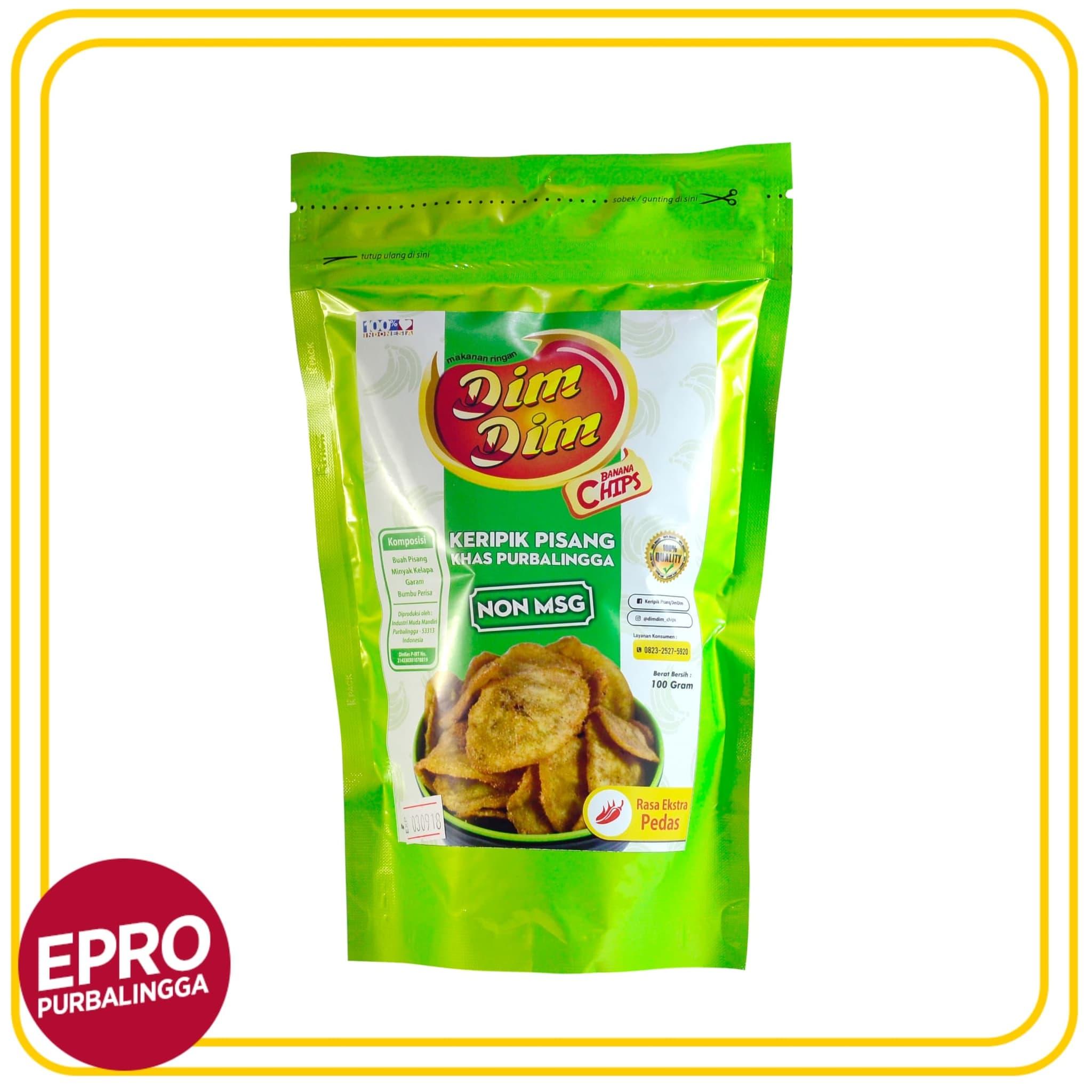 [Produk UKM] – Keripik Pisang Rasa Ekstra Pedas Dim Dim Banana Chips Isi 100gr - Blanja.com