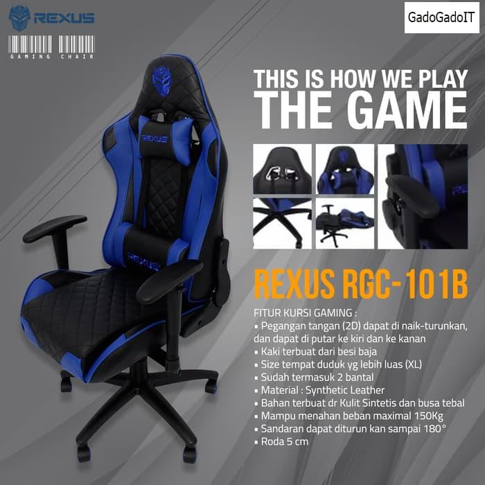 harga Kursi Komputer Pc Gaming Chair Rexus Rgc 101 Kursi Gaming Rexus Blanja.com