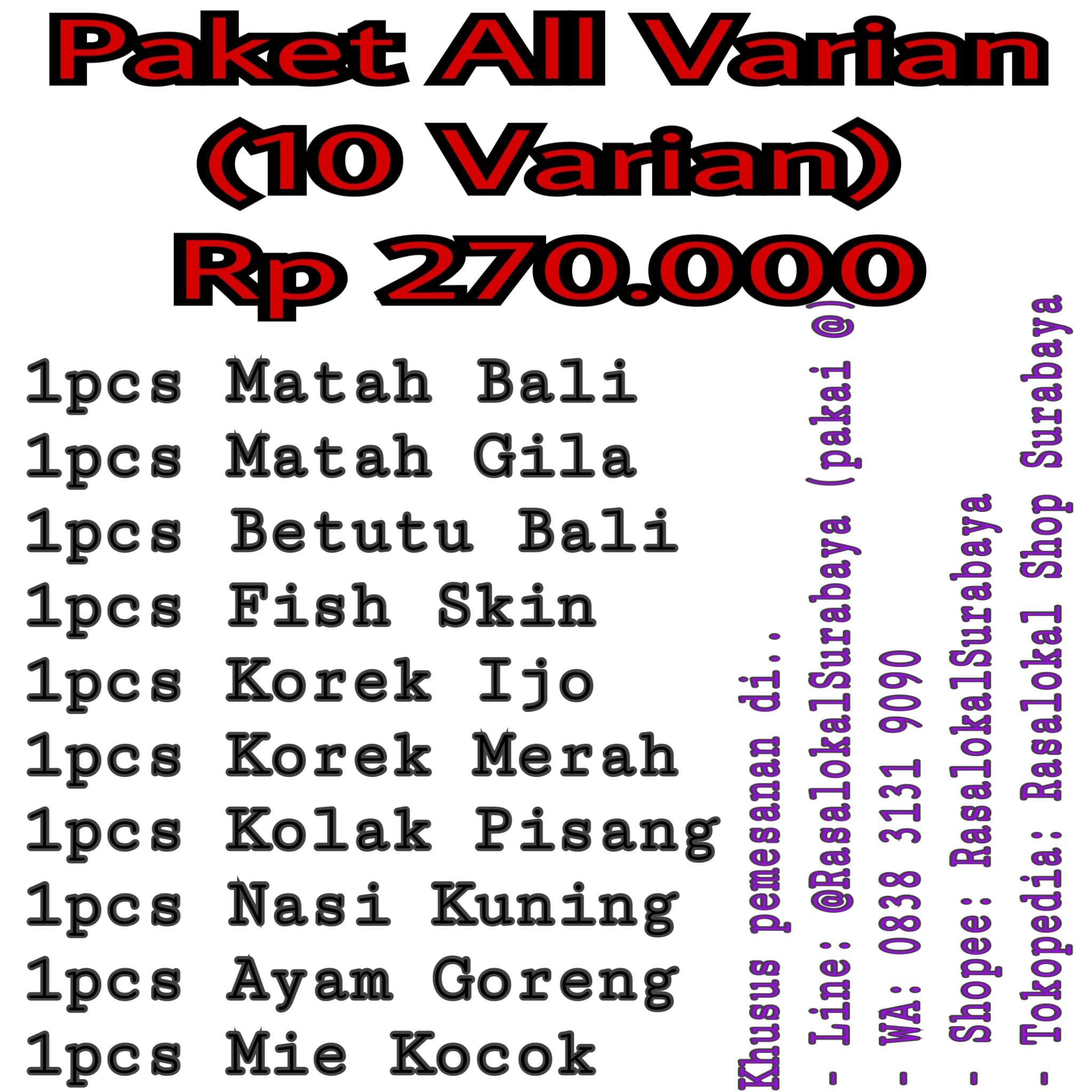 Jual Rasalokal Paket All Varian Shop Surabaya Tokopedia Korek Merah