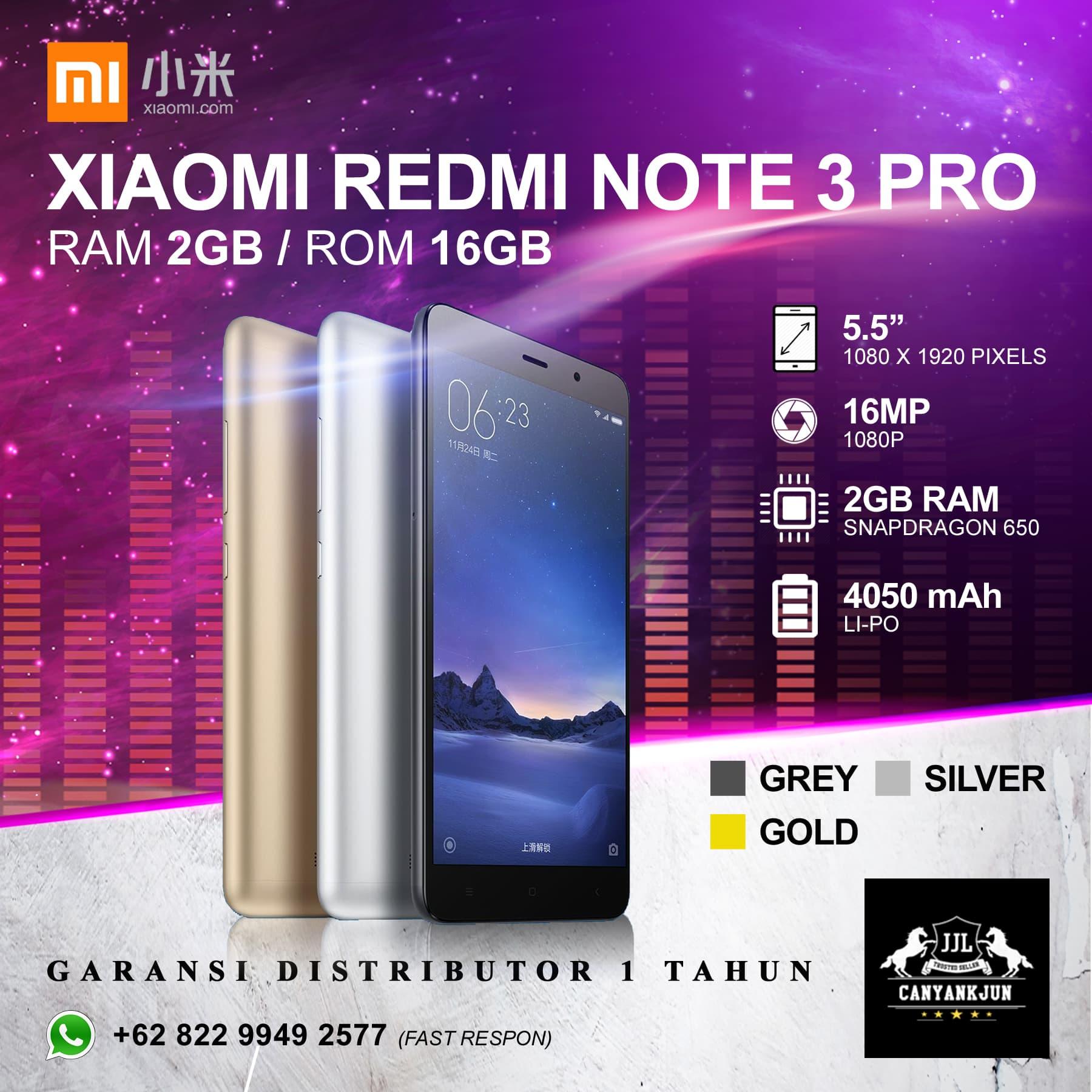 Promo Xiaomi Redmi Note 3 Smartphone Grey 2 Gb 16 Garansi Samsung Galaxy J7 Prime 55ampquot Lte Dual Sim Smart Phone 32gb Jual Pro Gold Ram 2gb 16gb Distri 1