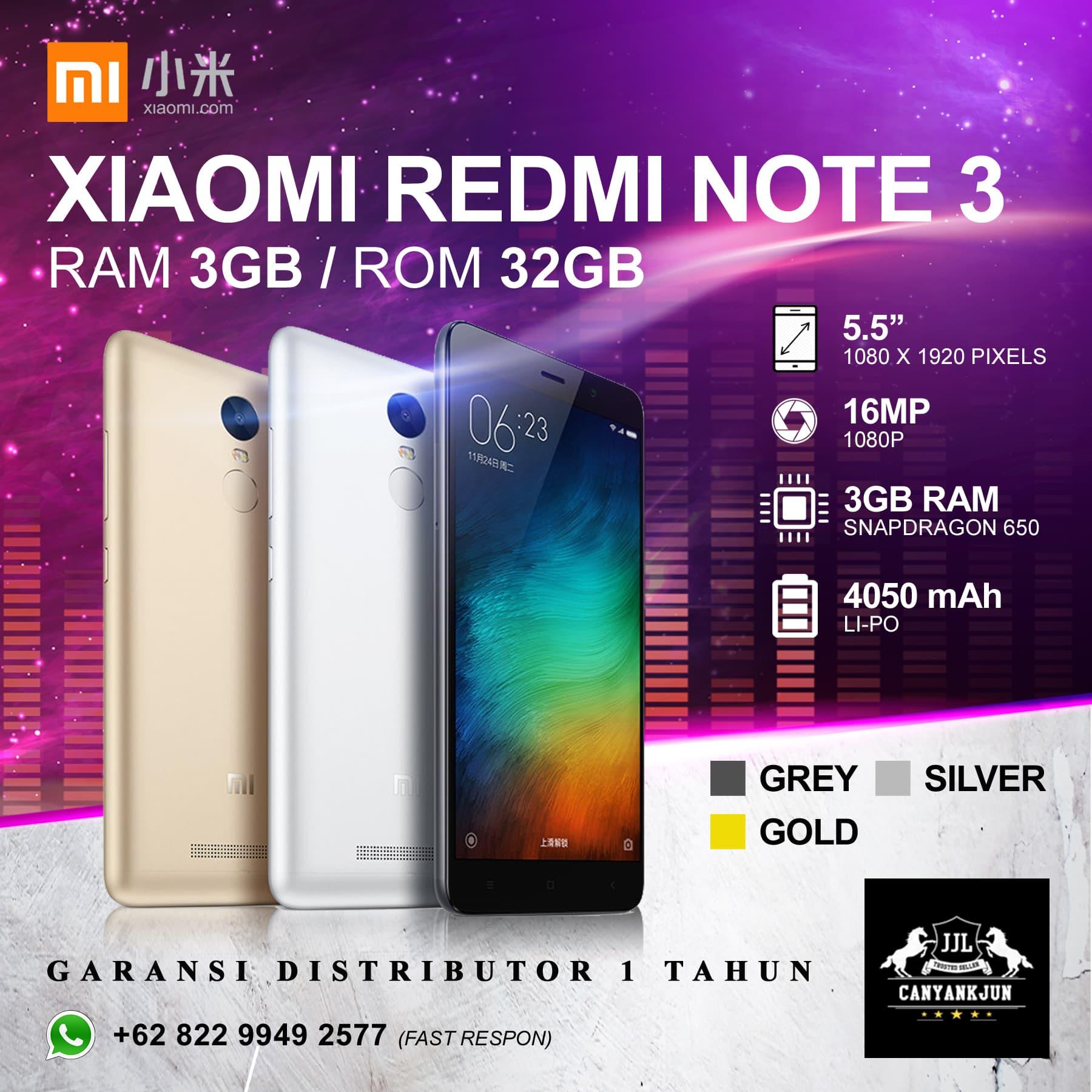 Jual Xiaomi Redmi Note 3 Ram Gb Garansi Distributor 1 Tahun S2 Gold 3gb 32gb 32 Brand New In Box Canyankjun Tokopedia