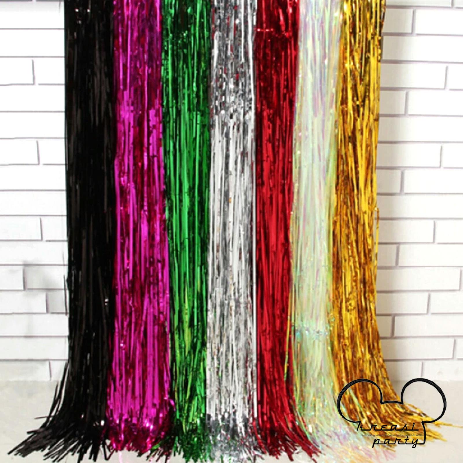 Tirai Foil Curtain Fringer 1m X 2m Daftar Harga Terlengkap Balonasia Dekorasi Backdrop Jual Fringe Kreasi