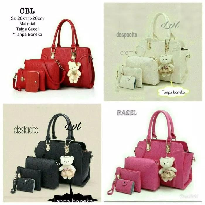Hand bag Wanita / Fashion Tas / Paket Tas 4 in 1 / Tas motif cantik