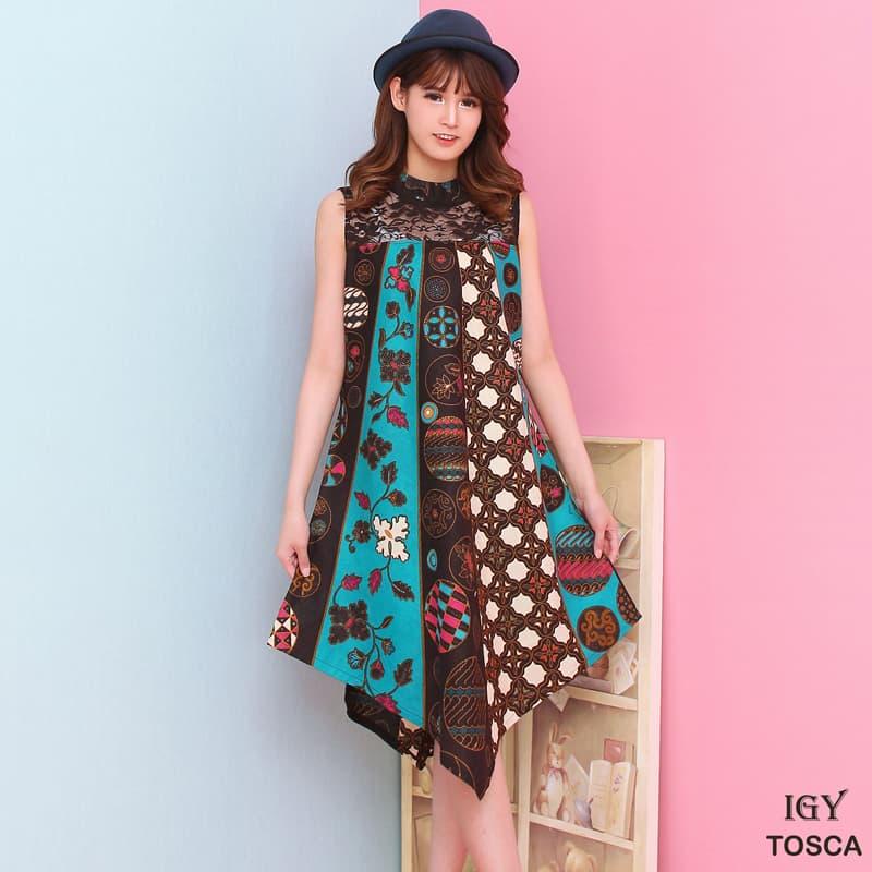 IGY - DRESS Batik Modern GAUN Batik Baju Cheongsam Murah