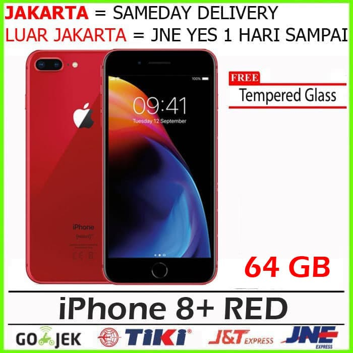 Klik Gan - 64gb / 64 Gb Red Iphone 8 Plus Garansi Apple 1th Non Aktif