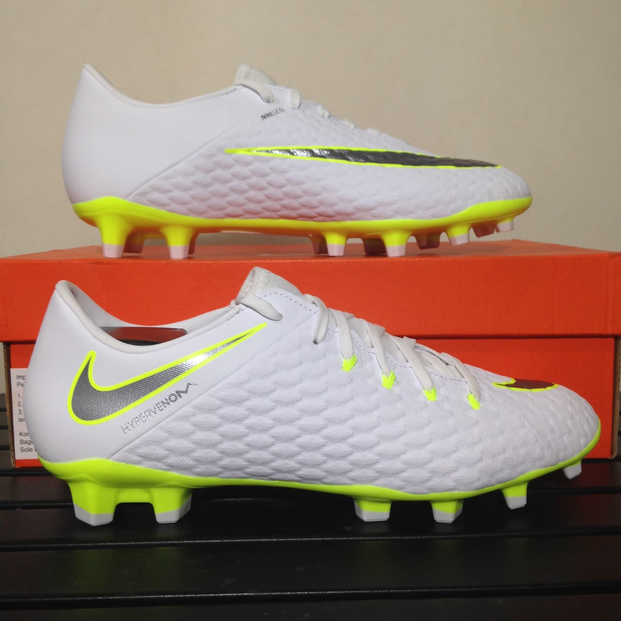 a6fb82c20ee4 Jual Sepatu Bola Nike Hypervenom 3 Academy Fg White Volt Aj4120 ...