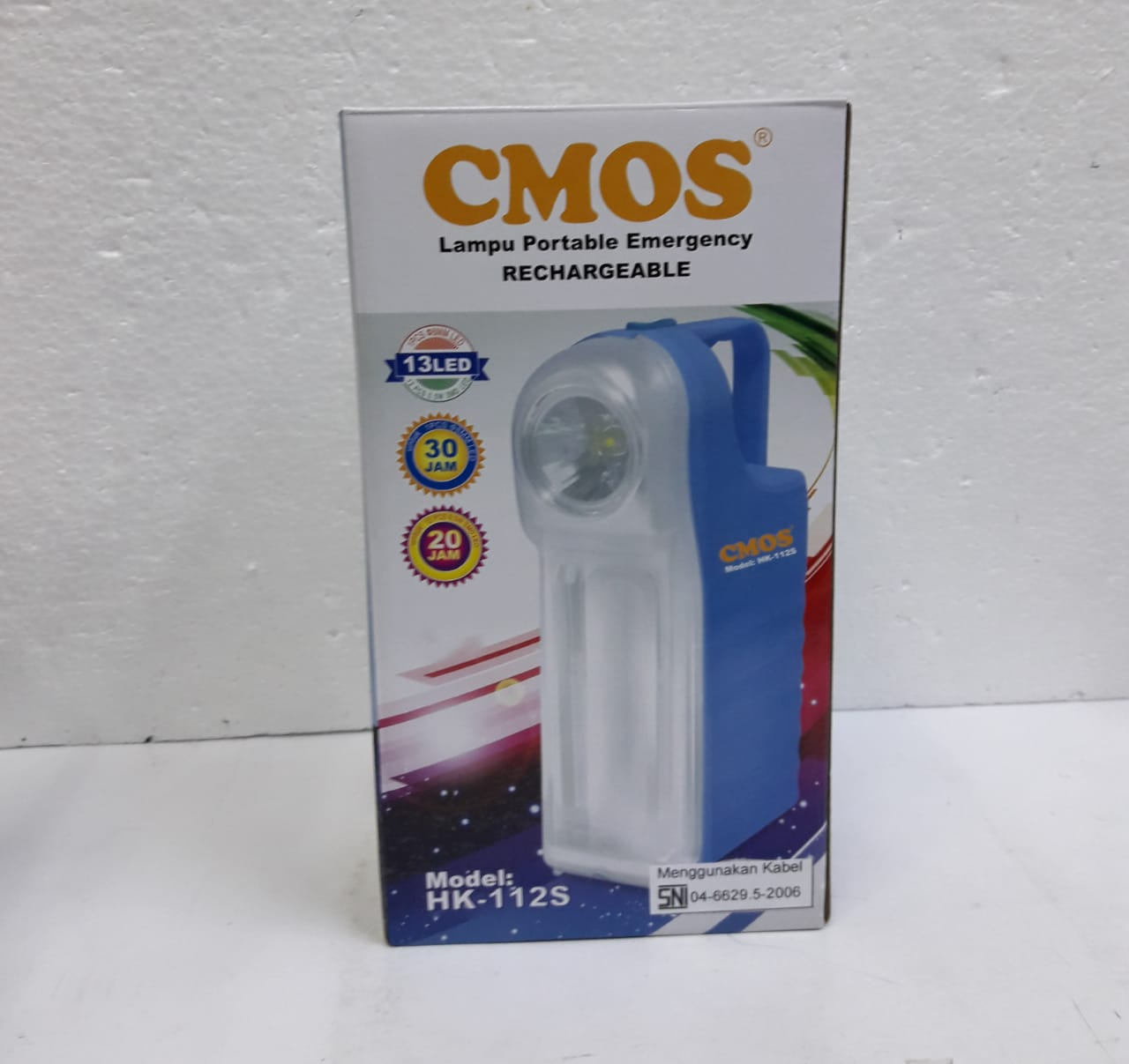 CMOS LAMPU PORTABLE EMERGENCY RECHARGEABLE HK - 112 S