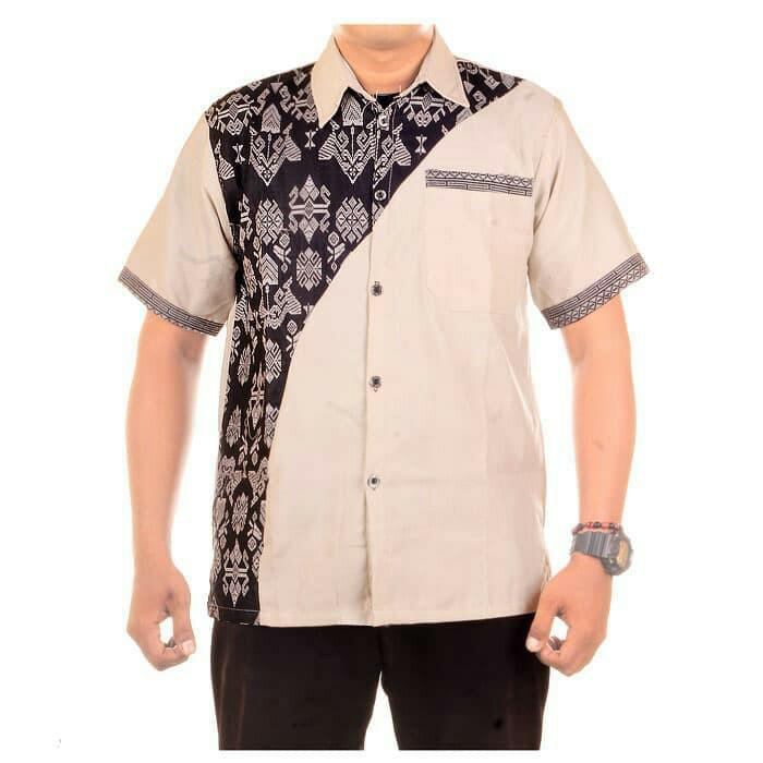 Jual Batik Pria Modern Kemeja Batik Atasan Batik Hem Batik Kombinasi Kota Yogyakarta Gn Batik Collection Tokopedia
