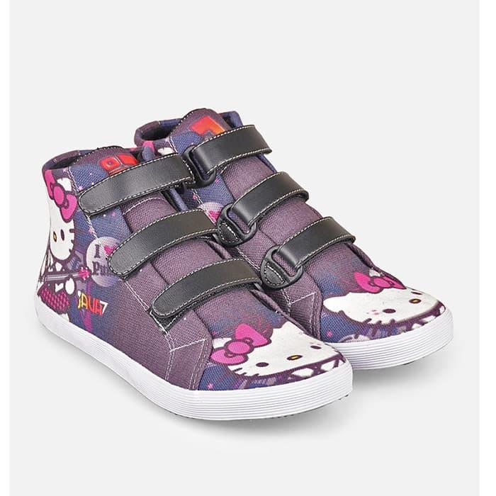 harga Sepatu Casual Sekolah Anak Hello Kitty, Bandung Fashion Asli, Jv18 645 Blanja.com
