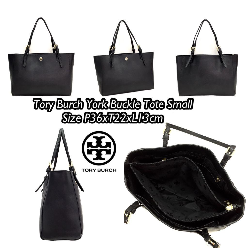 Jual Tas Tory Burch Grade Ori Mirror York Buckle Tote Small Premium Black Polos Bagidentity Tokopedia