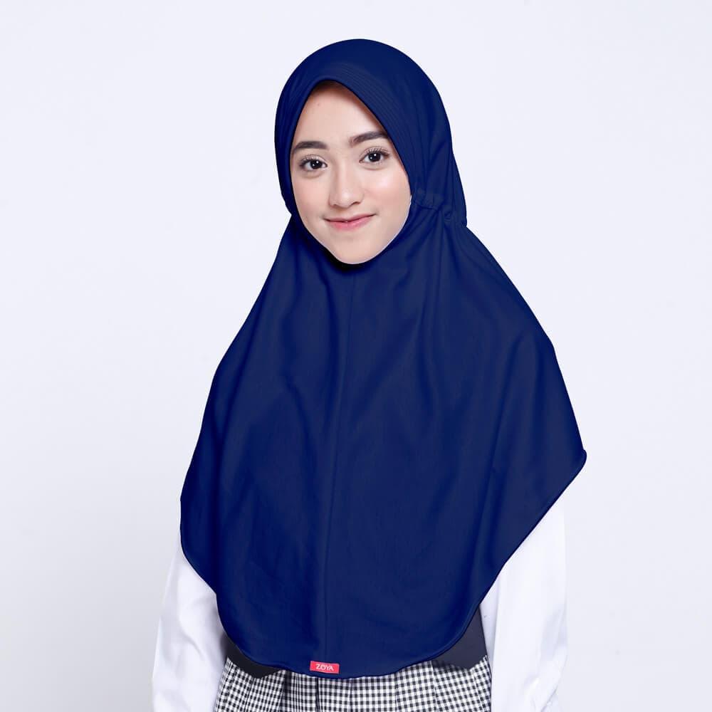 Jual Kerudung Anak Sekolah ZOYA / Hijab Instan Medium - Kota