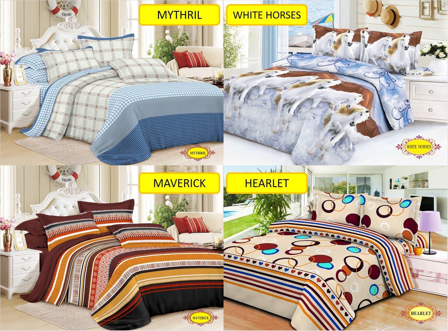 Lidia Bed Cover Sprei Set 120x200x20 No 3 Single Size White Horses Orina Motif Fami King 180x200x20cm Jual Promo 120x200 No3 Dede Chamber