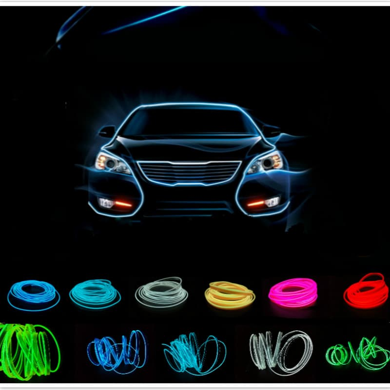 harga Lampu Interior Mobil Led Neon Rgb 3 Meter With 12v Inverter - Blue Blanja.com