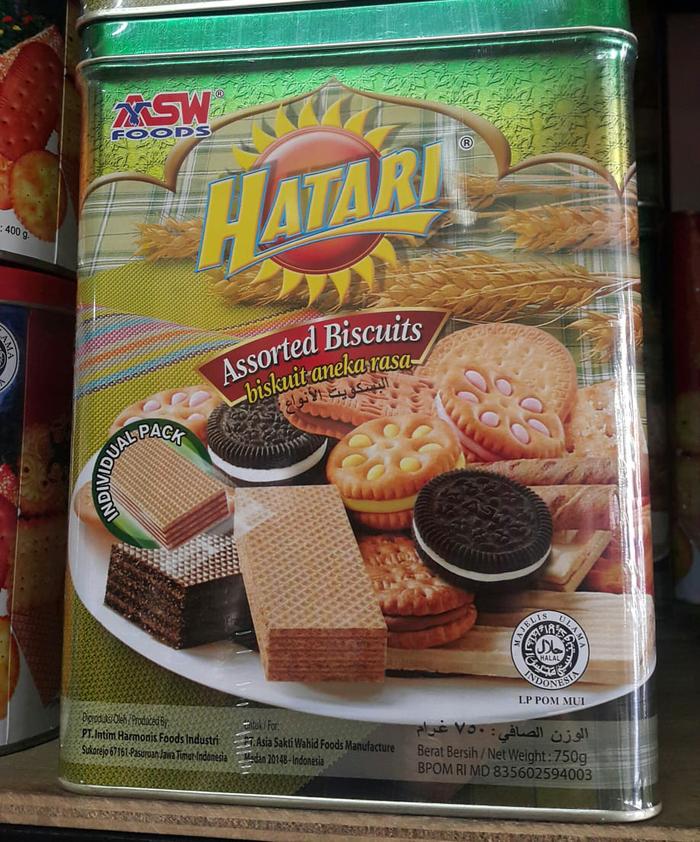 Assorted Biskuit Kaleng Kotak Hatari