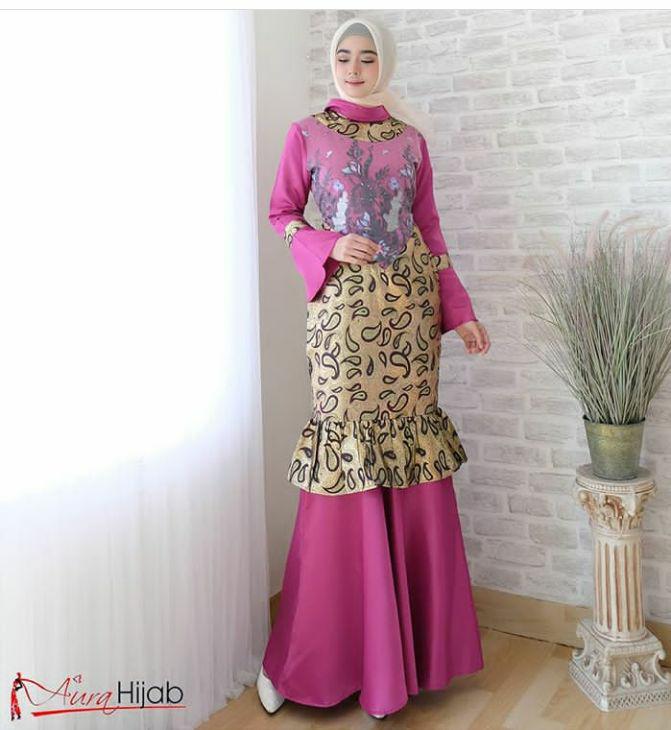 Jual Gamis Duyung Batik Pink E R Tokopedia