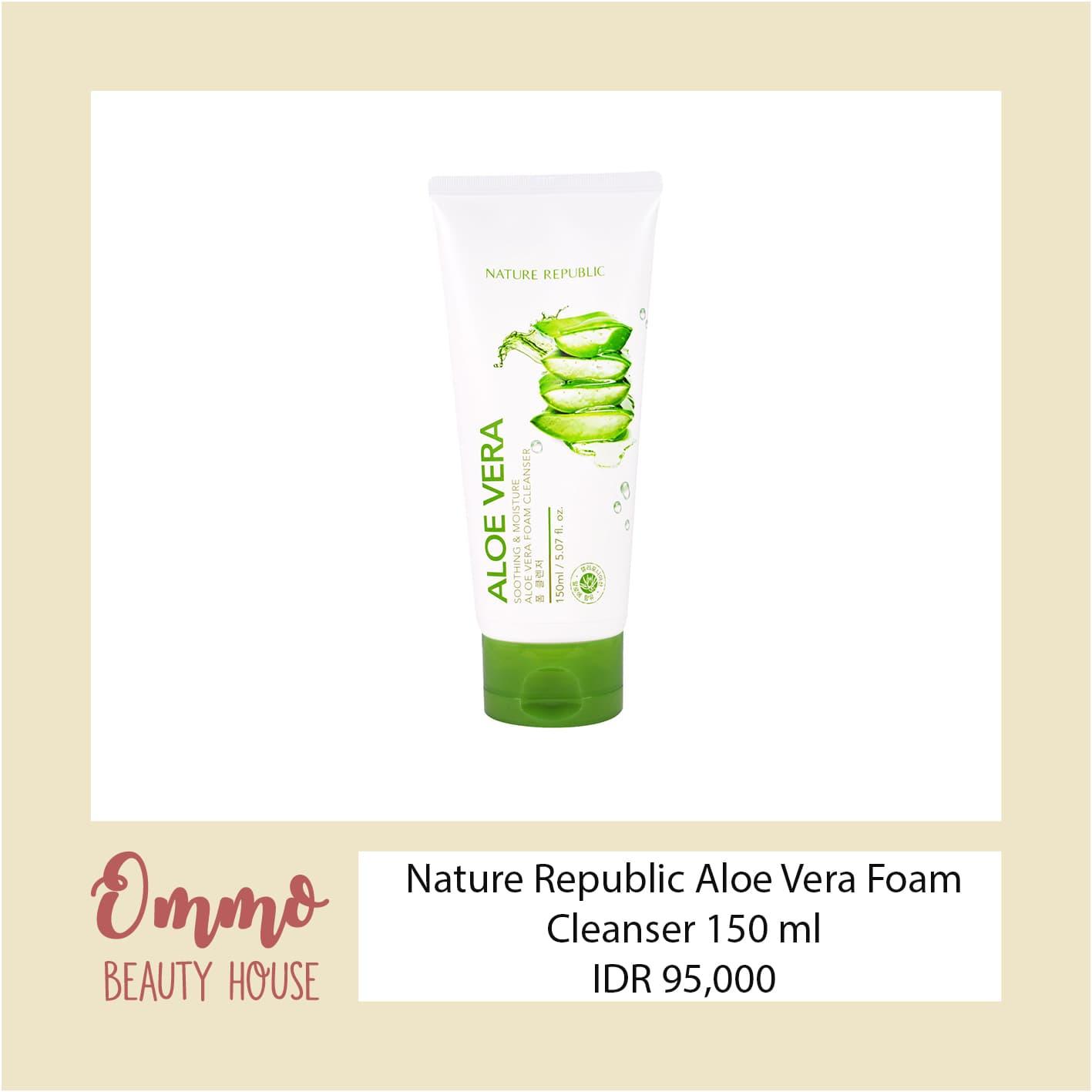 Jual Nature Republic Soothing Moisture Aloe Vera Foam Cleanser Omoo Beauty House Tokopedia