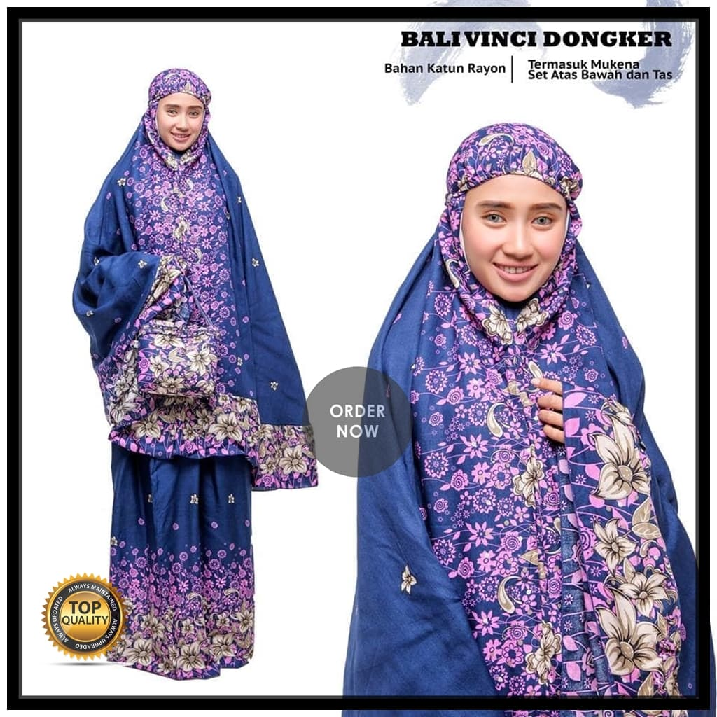 Mukena Bali Vinci Dongker Dewasa - Blanja.com