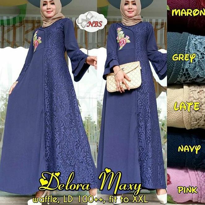Jual Gamis Maxi Baju Seragam Pesta Pernikahan Muslim Dress Xxl Xl Jumbo Jakarta Pusat Bell S Boutique Tokopedia