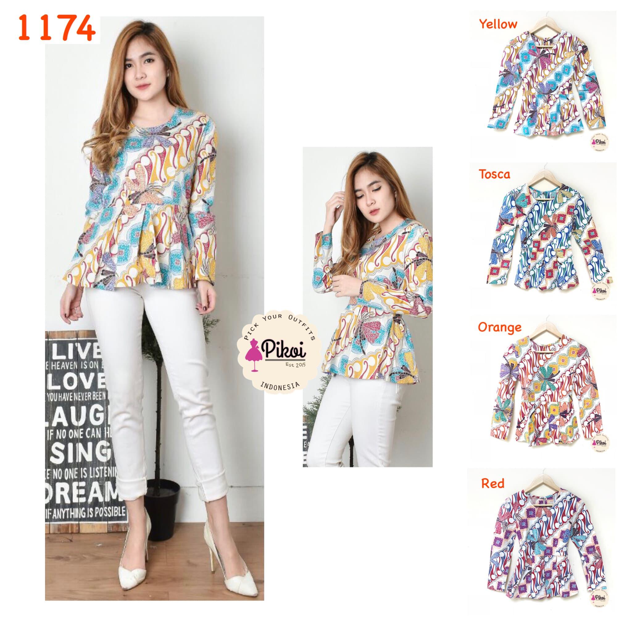 Baju Batik Wanita Modern Batik Kantor Murah Atasan Batik Kerja 791