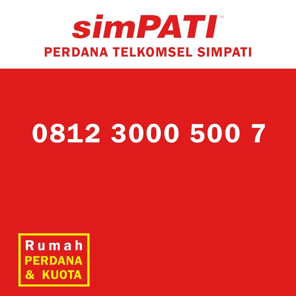Jual Perdana nomor cantik Telkomsel Simpati ribu ratus 0812 3000 500 / 900 - Rumah Perdana