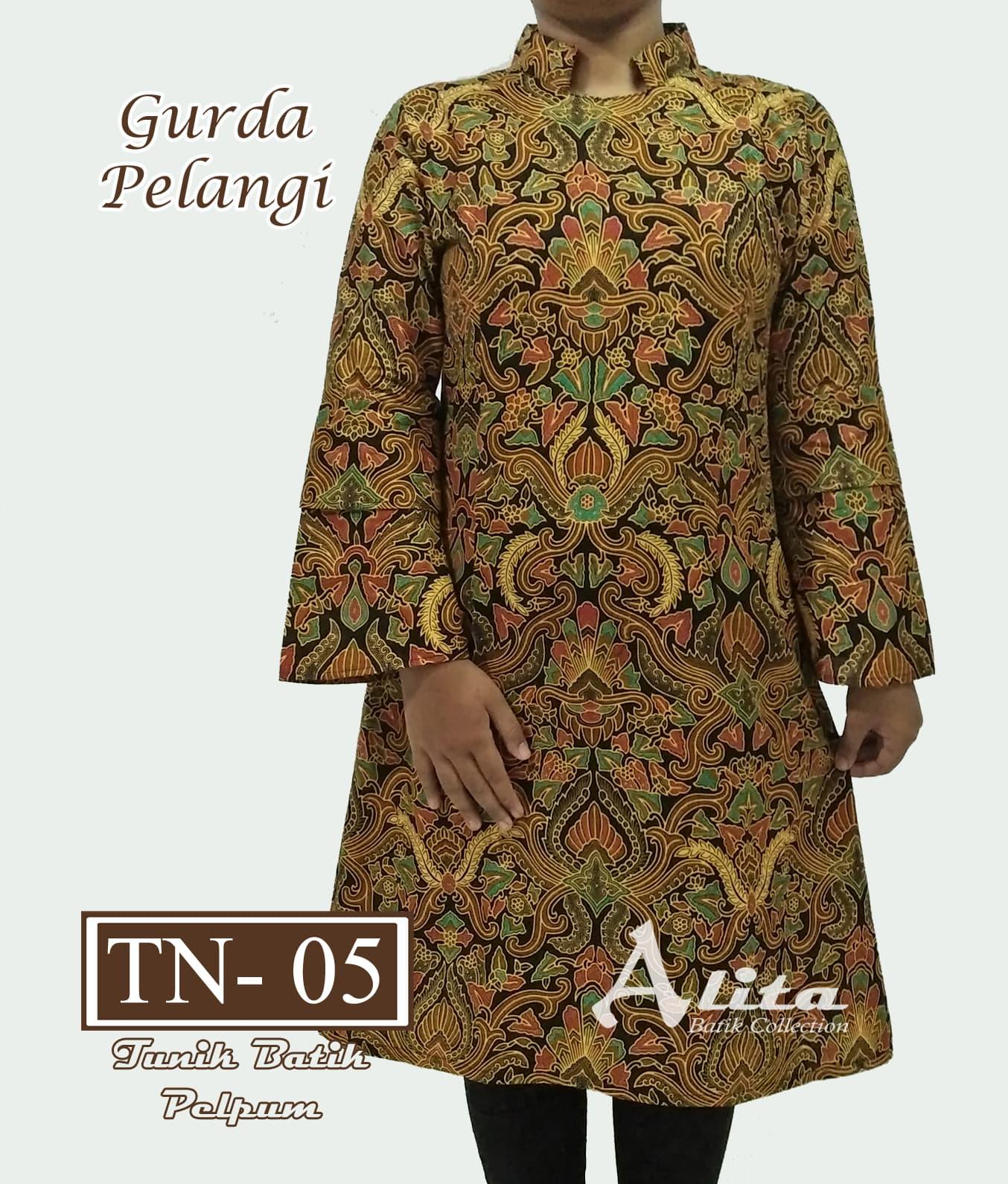 Jual Tunik Batik Wanita Dress Batik Baju Atasan Blouse Batik Wanita 05 Batik Alita