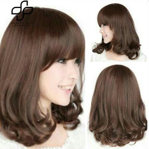 Wig Rambut Palsu Perempuan Tahan Panas Panjang Keriting thumbnail