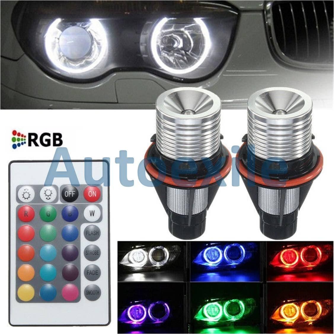 Angel Eyes LED RGB Putih Lampu Bimmer Warna Warni Mobil BMW E39 E53 E60 E61 E63 E64 E65 E66 E83 E87 X3 X5