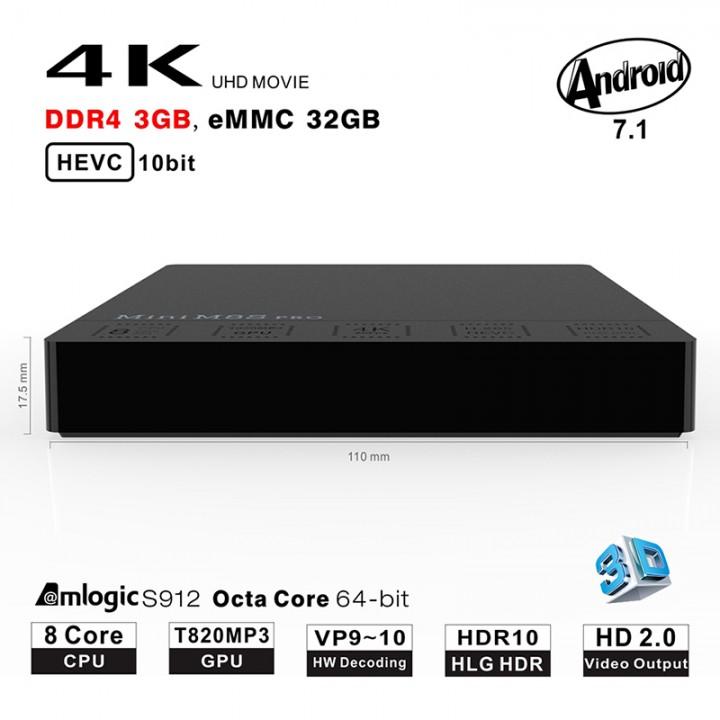 Beelink M8s Pro 3gb 32gb Android Tv Box Bluetooth Full Kodi Dan App a00a512dd6