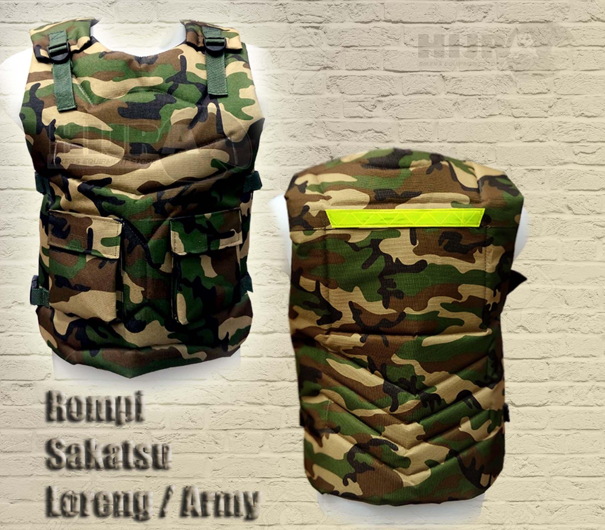 Jual Rompi Motor Body Protector Pelindung Dada Army Hijra Touring Tahan Angin Easy Vest Stores Tokopedia