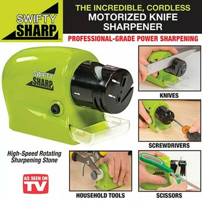 Swifty sharp pengasah asahan pisau knife sharpener otomatis - HKN219