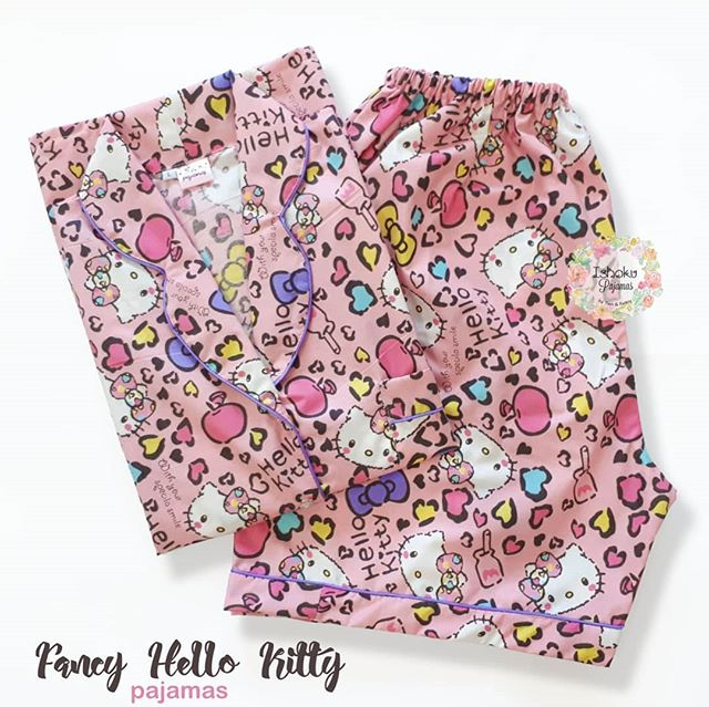 dcb7a1ad0 (SHORT pants) Fancy Hello Kitty Pajamas/ Piyama/ Baju tidur/ baby doll