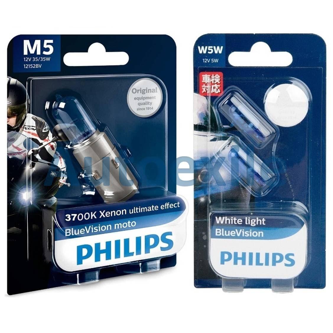 harga Paket Philips Bluevision H6 M5 35w 3700k Kaki2 Ba20d Dan Blue Vision T10 W5w Lampu Vespa Px Thunder Lama Kymc Blanja.com